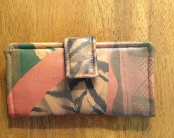 Wallet, Women's bifold wallet, Small Fabric Clutch, Fabric wallet
