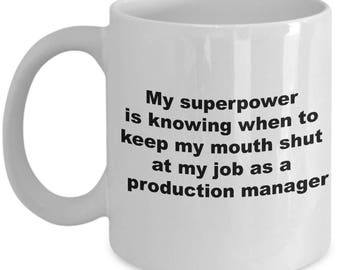 Funny Production Manager Mug - My Superpower