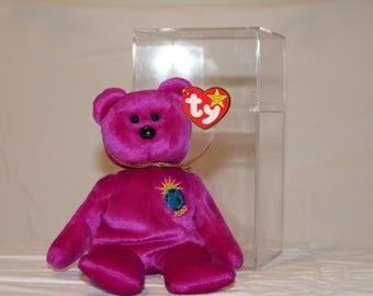 TY Beanie Babie 2000 Millenium Bear (With Error on Tush Tag)