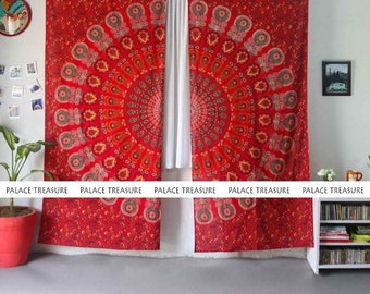 Mandala Curtains Boho - Peacock Dream Large