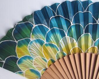 Hand painted silk fan