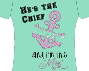 He's the Chief navy shirt