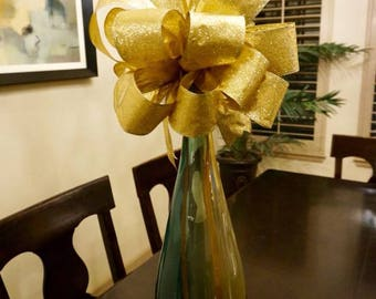 Glitter Gold Tree Top Bow