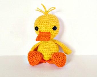 Amigurumi duck, Crochet duck, Crochet animal, Baby duck, Crochet toy, Stuffed duck, Crochet amigurumi, Crochet animals, Yellow duck