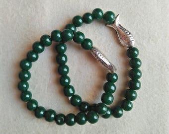 Onyx Stone Fascinating Bracelet Combo For Men/Women/Girls Onyx Bracelet 2 Pieces Natural Gemstone, Beaded Bracelet , Weight 39.9 Gram.