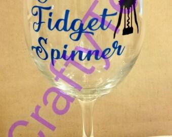 Mom's Fidget Spinner Wine Glass