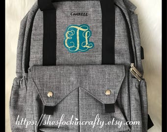 Personalized backpack Diaper bag