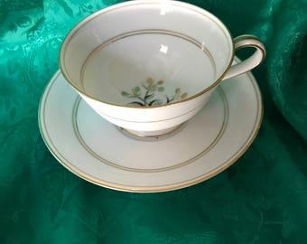 Noritake China, Winton pattern  teacup and saucer
