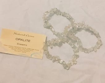 Opalite Mineral Chip Bracelet