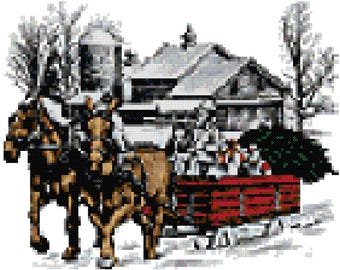 A Country Christmas Counted Cross Stitch Pattern PDF Download