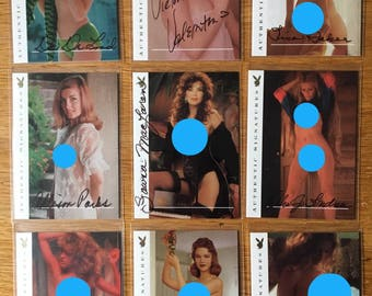 Playboy centerfold of the century autograph trading cards lot of 9