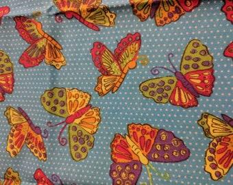 Butterfly fabric 1/3 yard