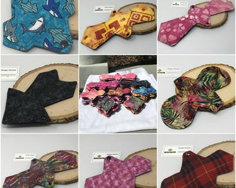 """Custom cloth pad 5.75"""" to 16"""" with Zorb core and waterproof backing"""