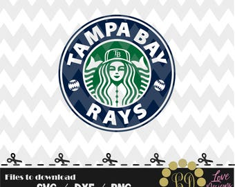 Tampa Bay Rays coffee svg,png,dxf,shirt,jersey,baseball,college,university,decal,proud mom,disney,softball,college,starbucks,ncaa,svg