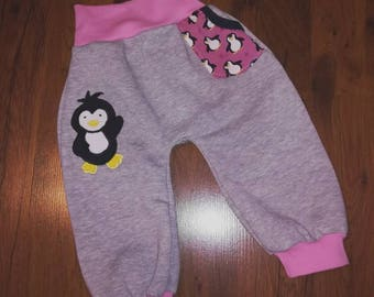 "Pants/bloomers ""Penguin"" from Sweat in the Gr. 50/56 to 86/92"