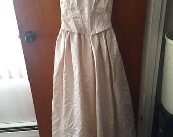 Vintage Scott McClintock Pink Corset Dress- size 4