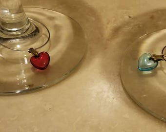 His and Her Wine Charm Set