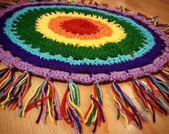 Circle crochet rug