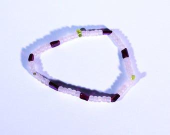 vegan rose quartz bracelet