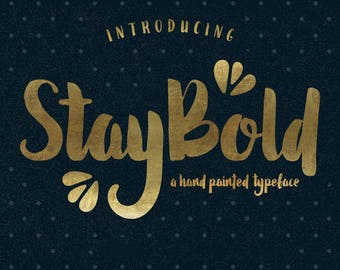 Calligraphy Font,  Swirly Font, Wedding Watercolor, Christmas font, Handwritten Script  Instant Download - Stay-bold-typeface