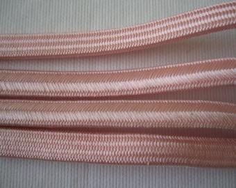 Second-hand baby pink silk obijime for kimono -USED - Kitsuke - From Japan
