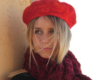 French Beret, Beret, Hat, Warm hat, Fashion accessory