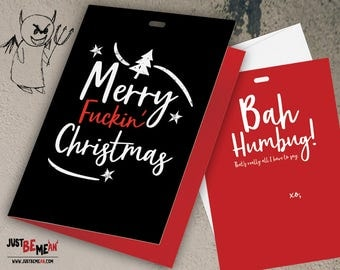 Merry F*ckin' Christmas Holiday Cards