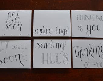 Set of 6 Blank Cards- Caring