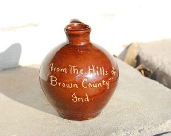 Brown County Indiana Vase - Vintage