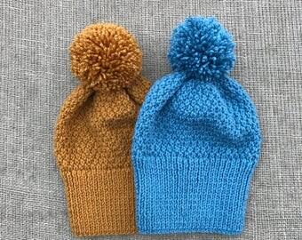 Handmade Aran hats-selection of colours