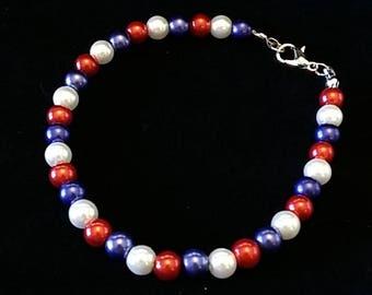 Red White and Blue Bracelet