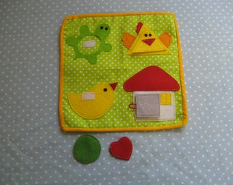 Quiet game, Game shapes, Felt  Animals Learning Toy,  Gift for Kid, game for ages 1-4