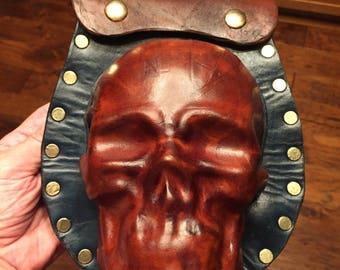 Skull Sporran/Pouch for Scottish Highland Celtic Irish Steampunk Pirate attire.