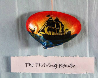 Traditional Whaling ship ornament