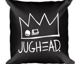 Jughead Jones Throw Pillow, Cute, Fun, Black, White Letters, Riverdale, House Decor, Home, Decor, Girly, Comfortable, Archie Comics