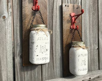 Reclaimed Wood/Mason Jar Sconces
