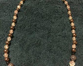 Black and White Elegant Beaded Crystal Necklace