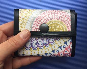 Recycled Hand-drawn Mandala Wallet