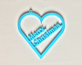 Lovely and Cool Christmas Tree decoration Gift hanging heart merry Christmas 3d printed decor