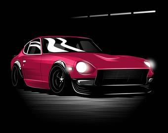 JDM Nissan Datsun Fairlady 240z Poster / Vector Clipart