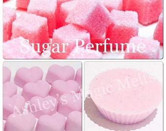 3 pink sugar perfume soy wax melts, designer perfume dupes, scented gifts, wax cubes, tart melts, strong wax melts, home fragrance