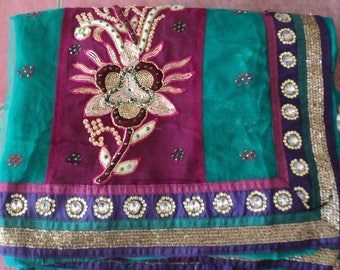 Indian beautiful Georgette Saree with blouse