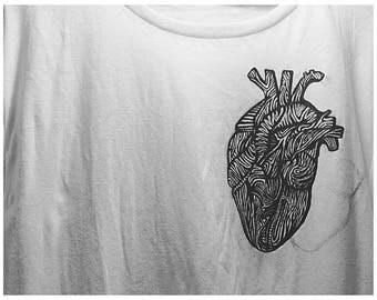 T-shirt with minimal anatomic heart