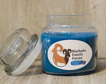 Blueberry Cobbler 14oz Candle with Lid