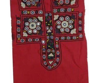Vintage Banjara Handmade Embroidered Hippie Boho Gypsy Craft Sewing Tribal  Yoke Neck