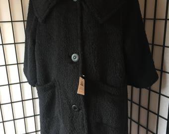 Black Mohair Coat