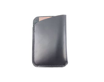Minimalist card Sleeve, leather card sleeve, slim wallet, leather card holder, front pocket wallet