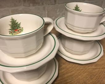 Pfaltzgraff - Christmas Heritage - Cup and Saucer - Set