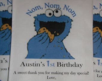 Sesame Street Cookie Monster Kraft Favor Bags (20) Birthdays, Baby Shower, Engagement Party For all Occasions
