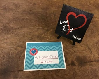 Love You Always Mini Canvas with Easel